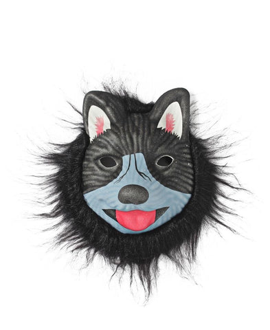 Animal Mask With Fur - Blue