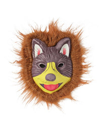 Animal Mask With Fur  - Purple