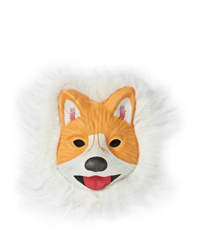 Animal Mask With Fur - Orange