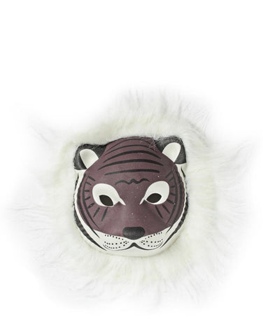 Animal Mask With Fur - Brown