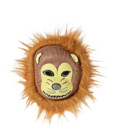 Animal Mask With Fur - Tan
