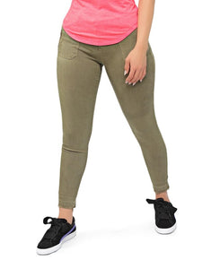 Mid Rise Jeans - Olive