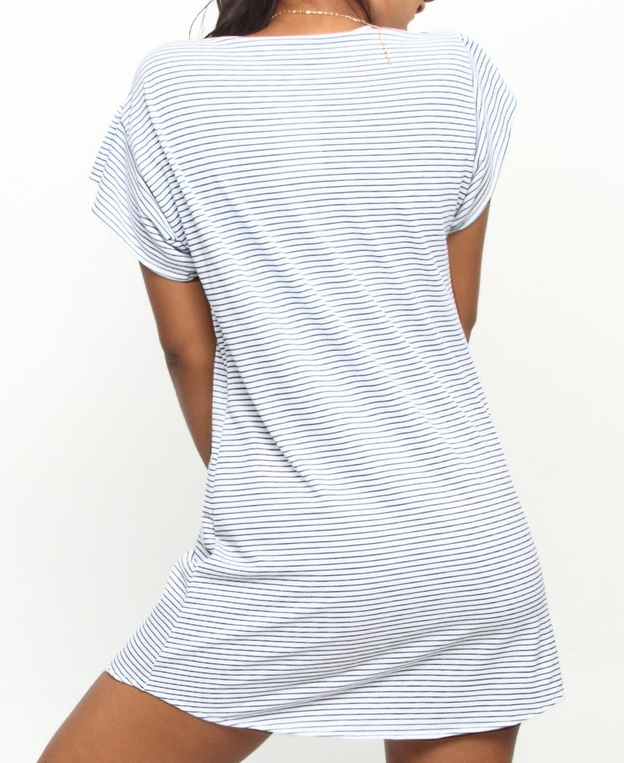 Summer Needle Out Shift Dress - White