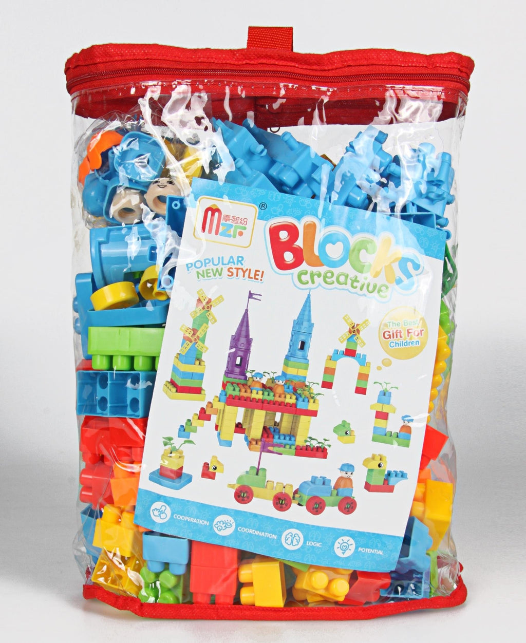 200 Piece Castle Design Edu Blocks - Multi