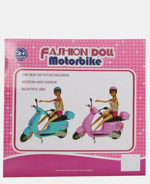 Fashion Doll Motorbike - Blue