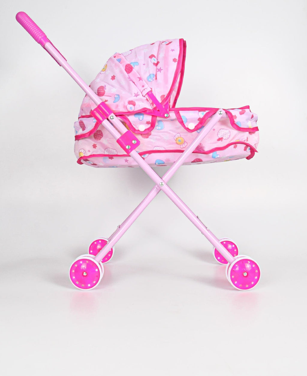 Baby Doll Folding Iron Stroller - Pink