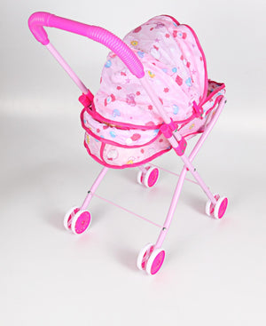 Baby Doll Folding Iron Stroller - White