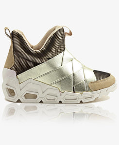 High Top Sneakers - Gold