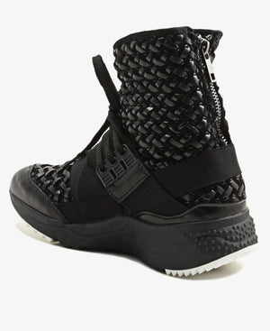 High Top Sneakers - Black