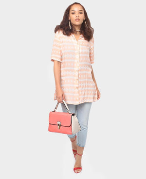 Short Sleeve Shirt - Coral