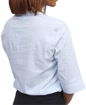3/4 Sleeve Blouse - Light Blue