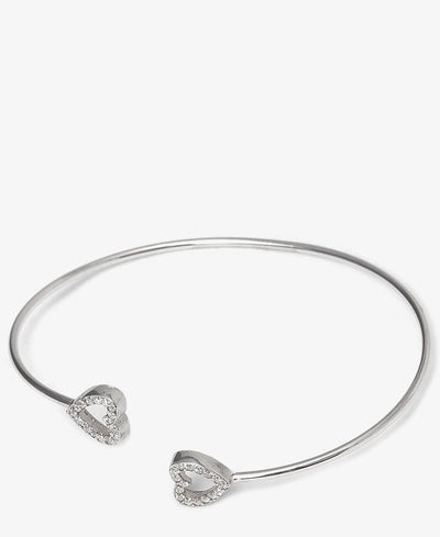 Sterling Silver Afreen C Bangle - Silver