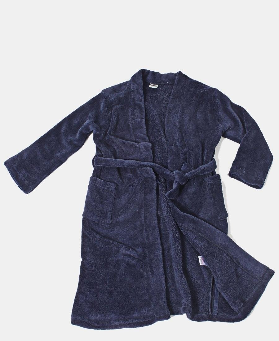 Pre Teens Fleece Gown - Navy