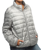 Compactable Unisex Travel Jacket - Grey