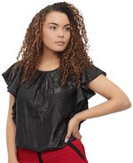 Diamond Cotton Blouse - Black