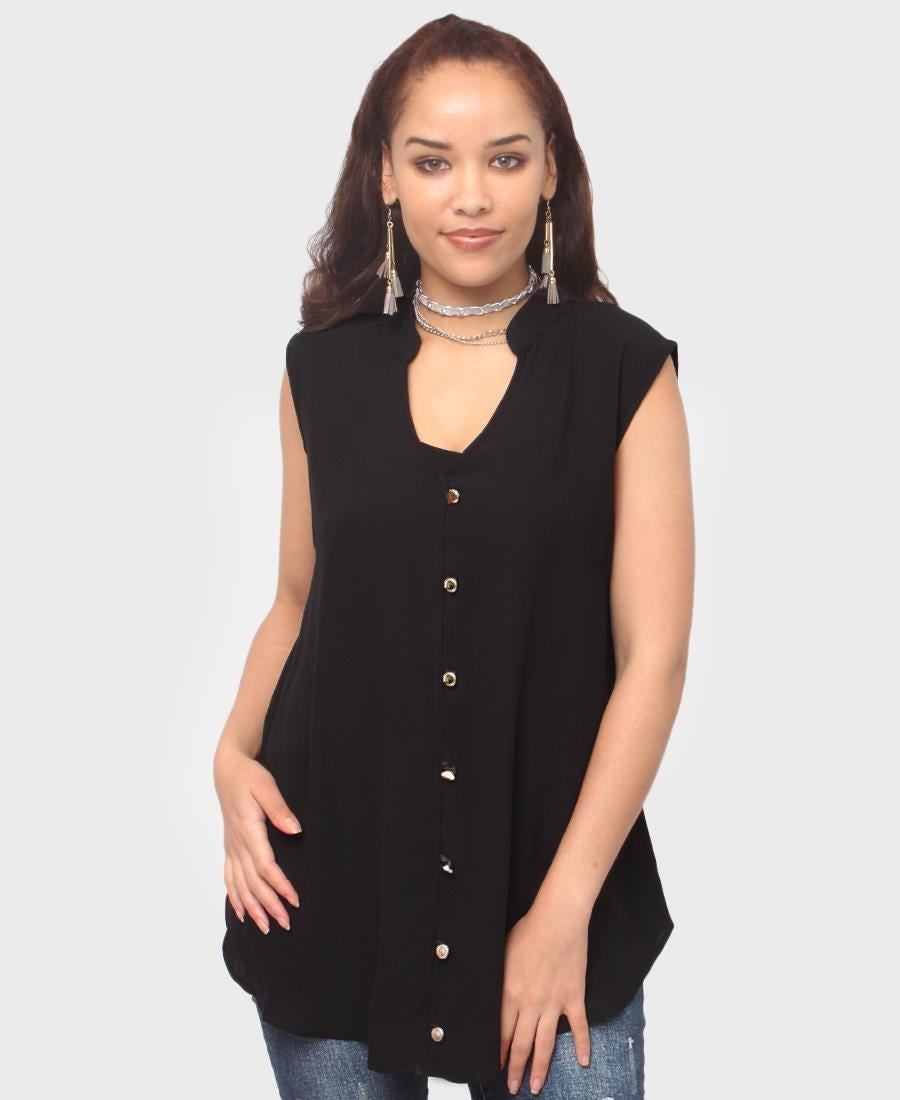 Sleeveless Top - Black