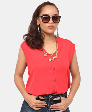 Sleeveless Top - Red
