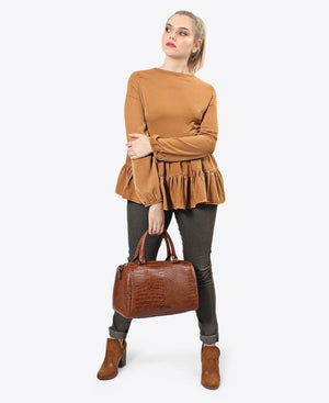 Tiered Blouse - Tan