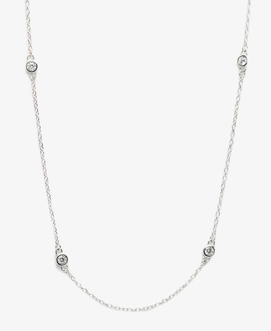 Sterling SIlver Tiffany Necklace - Silver