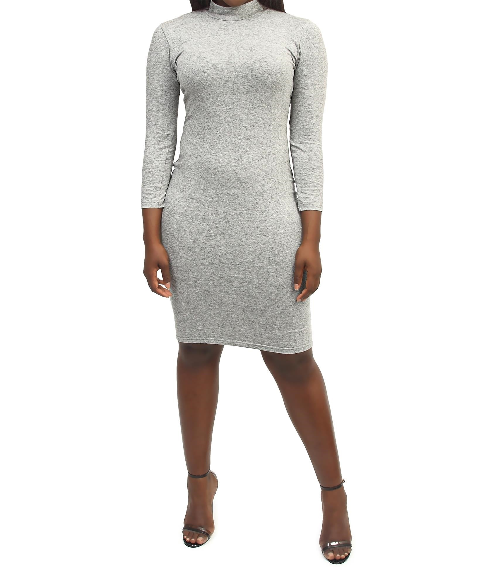 Bodycon Dress - Grey