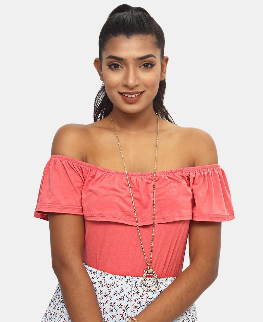 Frill Bodysuit - Coral
