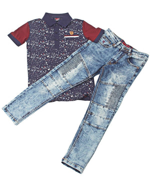 Boys Dubstep Jeans - Blue
