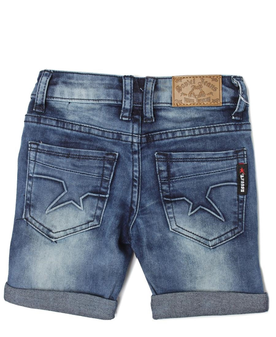 Boys Sheriff Denim Shorts - Blue