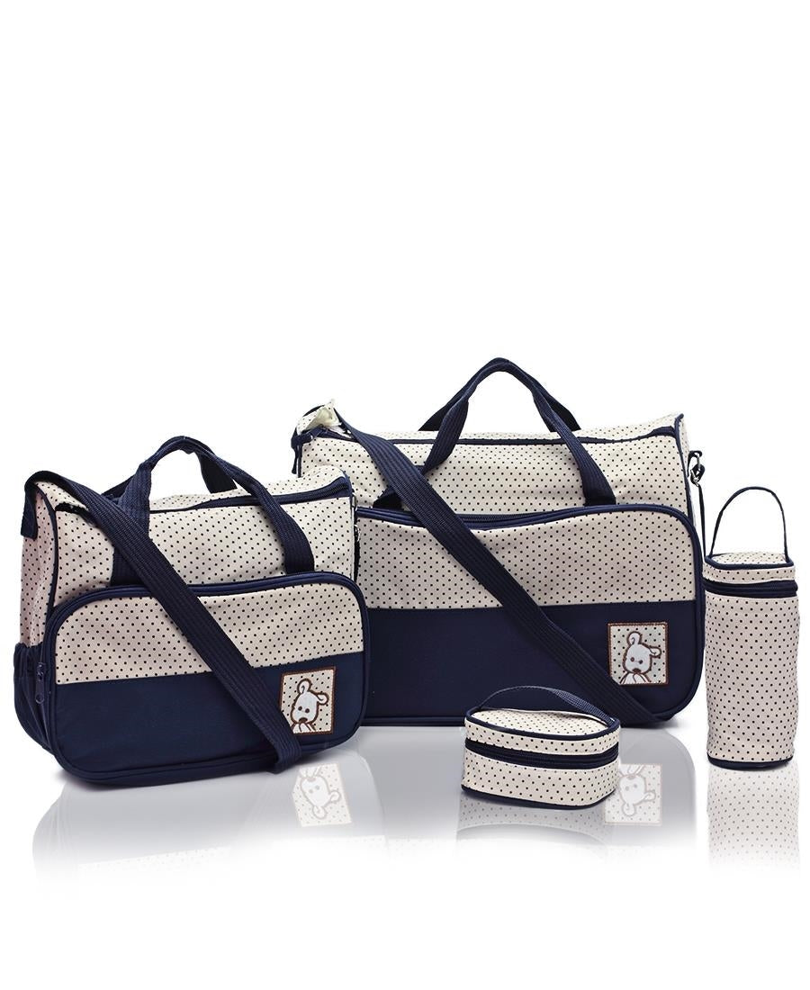 5 Piece Diaper Bag Set - Navy