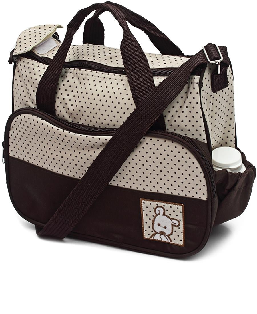 5 Piece Diaper Bag Set - Brown