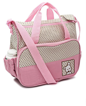 5 Piece Diaper Bag Set - Pink