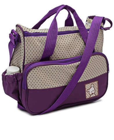 5 Piece Diaper Bag Set - Purple