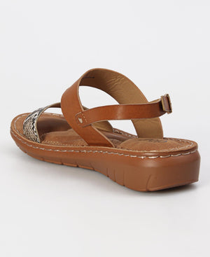 Comfy Strappy Sandals - Brown