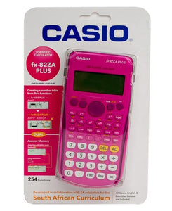 Casio FX-82ZA Plus Scientific Calculator - Pink