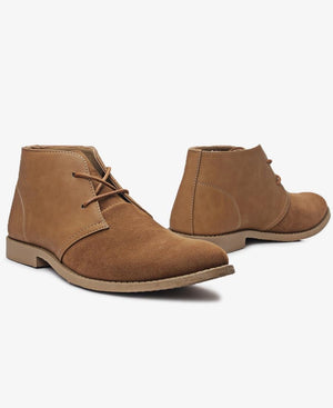 Lace Up Boots - Tan