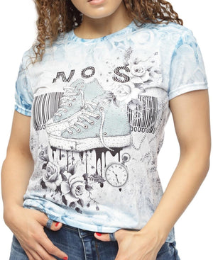 Printed T-Shirt - Blue