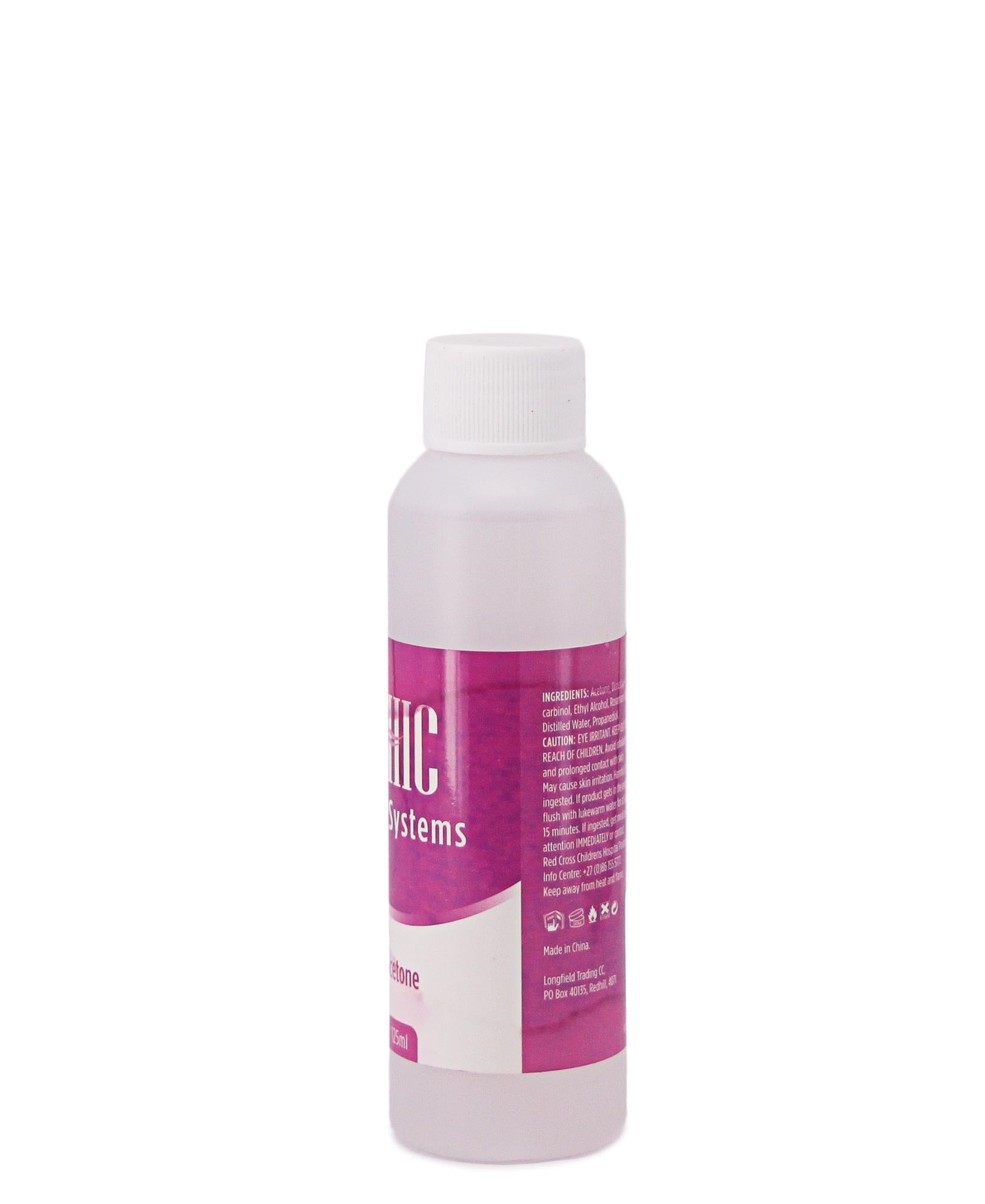 Acetone Nail Polish Remover - Clear