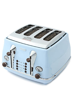 DeLonghi 4 Slice Toaster - Blue