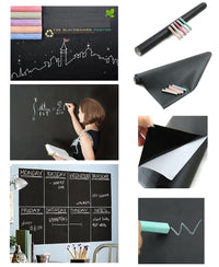 Chalkboard Sticker With Chalk - Black