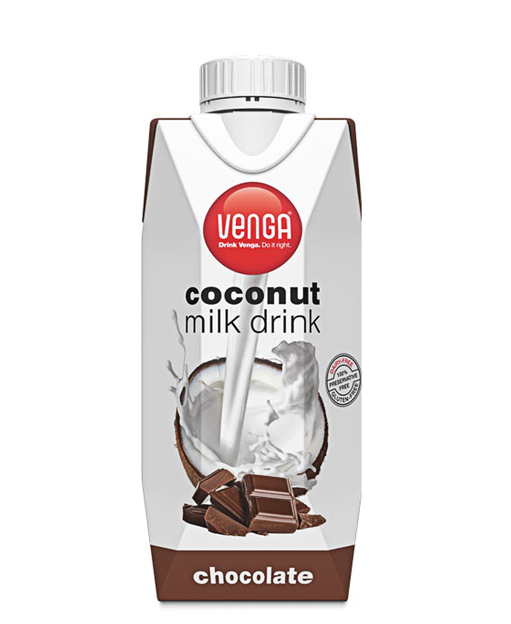 Chocolate Flavoured Coconut Milk Drink 330ml - White