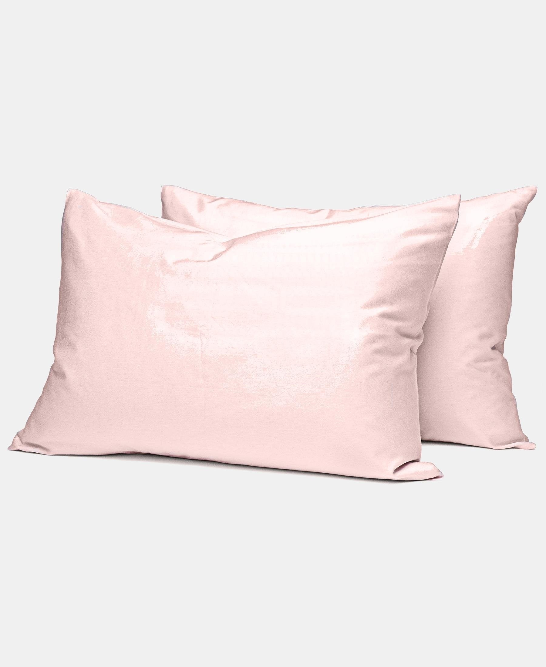 2 Pack 180 Thread Count Horrockses King Size Pillowcases - Dusty Pink