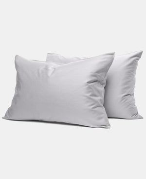 2 Pack 180 Thread Count Horrockses King Size Pillowcases - Grey