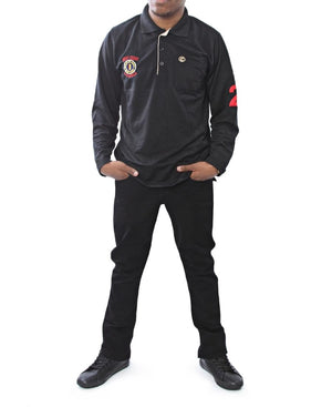 Cumbia Long Sleeve Golfer - Black