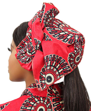Ethnic Doek - Red
