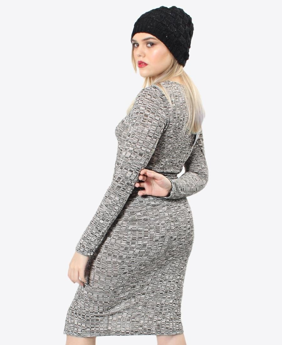 Ladies' Rib Dress - Silver
