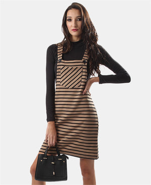Pinafore Dress - Taupe