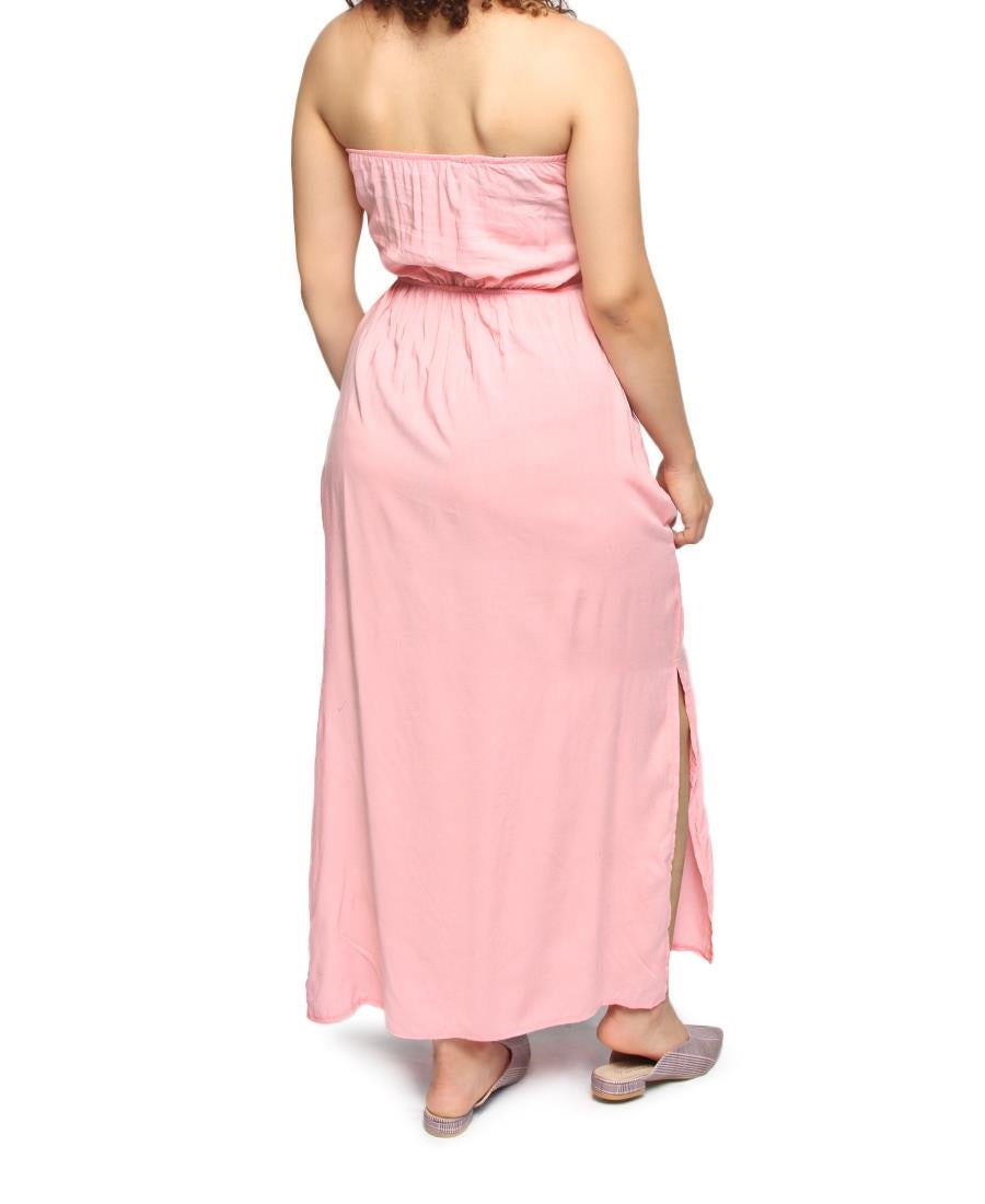 Boobtube Maxi Dress - Pink