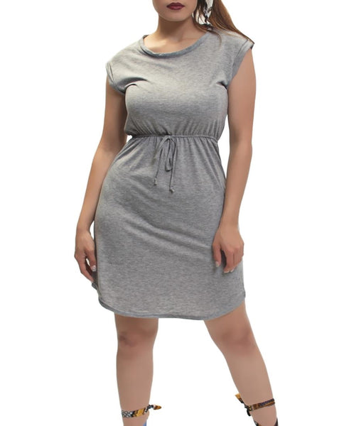 Drawstring Dress - Grey