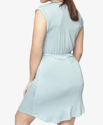 Drawstring Dress - Light Blue