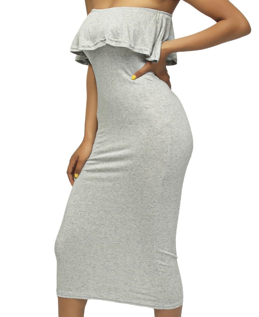 Boobtube Dress - Grey