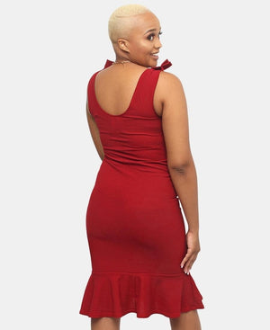 Frill Dress - Red